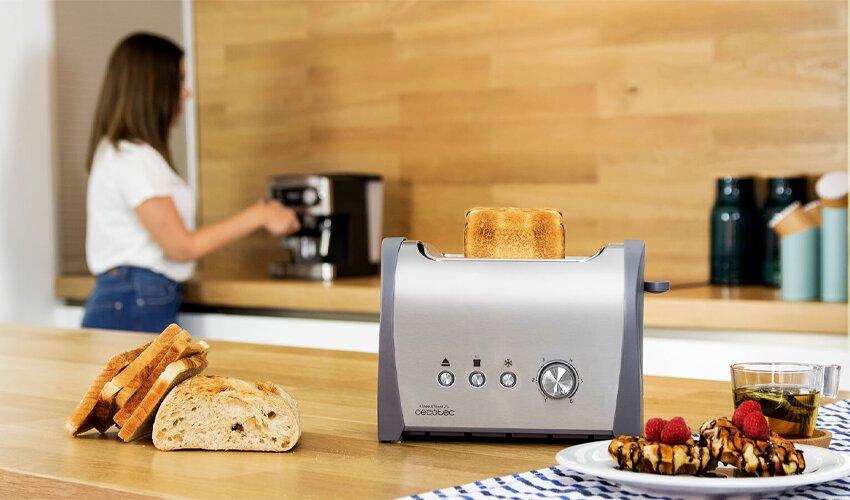 CECOTEC Steel&Toast 2S